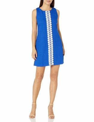 Ronni Nicole Women's Petite Sleevless Sheath with Lace Trim