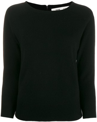 Diane von Furstenberg long-sleeve fitted sweater