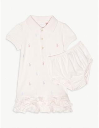 Ralph Lauren Schiffli cotton dress and knickers set 3-24 months