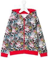 Little Marc Jacobs graffiti print zip up sweatshirt