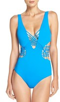 Becca Women's 'Electric Current' Cutout One-Piece Swimsuit