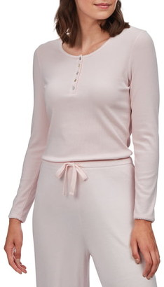 The White Company Ribbed Henley Pajama Top