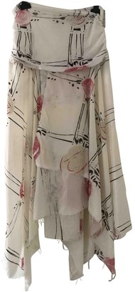 Loewe White Wool Skirt for Women