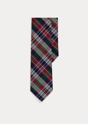 Ralph Lauren Madras Narrow Tie