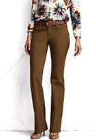 Lands' End Women's Petite Pre-hemmed Fit 1 5-pocket Colored Denim Boot-cut Jeans-Umber