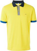 Sun 68 logo embroidered polo shirt - men - Cotton/Spandex/Elastane - M
