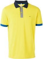 Sun 68 logo embroidered polo shirt - men - Cotton/Spandex/Elastane - M