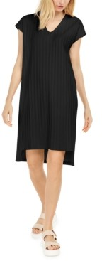 Eileen Fisher Shadow-Stripe Shift Dress