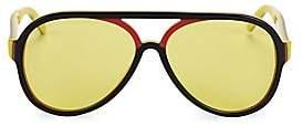 Gucci Women's 57MM Logo Stripe Aviator Sunglasses