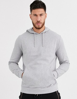 Asos Design DESIGN organic hoodie in grey marl