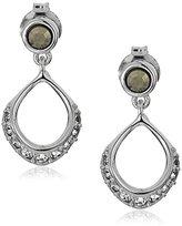"Judith Jack Forever Linked"" Sterling Silver Crystal Mini Post Drop Earrings"