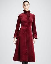 Jane Post Ruffled Velvet Coat