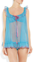 Agent Provocateur Lorna scalloped tulle babydoll