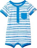 Coccoli Zigzag Stripe Short Romper (Baby Boys)