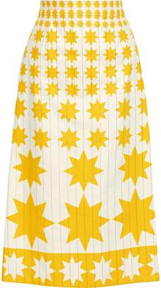 Lanvin Printed Cotton-blend Twill Midi Skirt