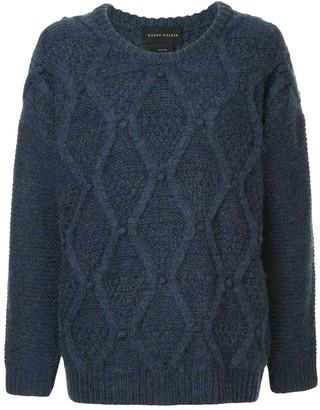 Karen Walker Oversized Cable Knit Sweater