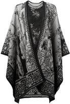 Alexander McQueen garden cape - women - Silk/Cotton/Linen/Flax/Wool - One Size