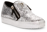 Giuseppe Zanotti Glitter Platform Zip Sneaker