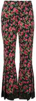 Dolce & Gabbana rose print flared trousers