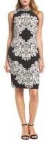 Adrianna Papell Women's Lace Print Sheath Dress