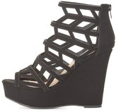 Charlotte Russe Qupid Caged Wedge Sandals