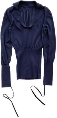 Jacquemus Navy Cotton Top for Women