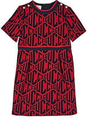 Gucci Kids' Rhombus-Knit Cotton Dress - Red