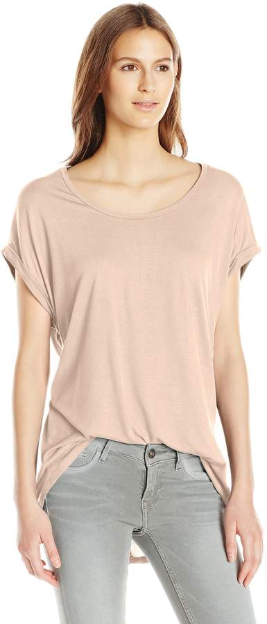 Paper + Tee Women's Sleeve Less Hi Lo Hem Top