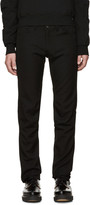 Comme des Garcons Black Wool Skinny Trousers