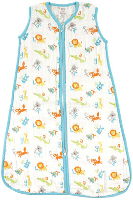 Luvable Friends Boys' Infant Sleeping Sacks ABC - Blue ABC Wearable Blanket - Newborn & Infant