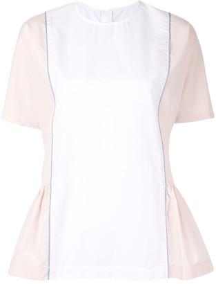 Marni peplum side blouse