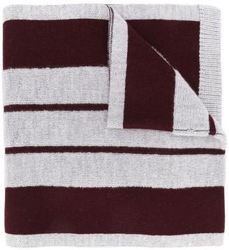Coach Striped Pattern Scarf