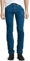 Diesel Thavar Distressed Denim Jeans, Blue