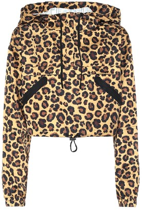 Adam Selman Sport Leopard-print technical jacket