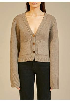 KHAITE The Scarlet Cardigan In Barley