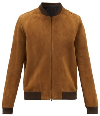 The Row Curt Suede Bomber Jacket - Brown