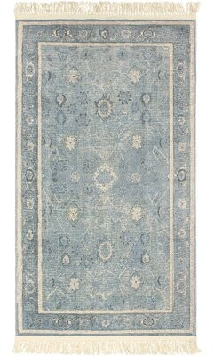 """French Connection Lipford Vegetable Dyed Cotton Blue Area Rug Rug Size: Rectangle 2'6"""" x 4'2"""""""