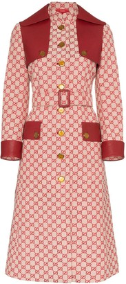 Gucci GG print trench coat