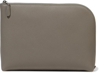The Row Medium Square Pebbled-leather Pouch