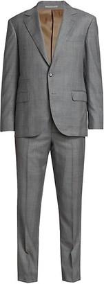 Brunello Cucinelli Gallas Plaid Wool Suit