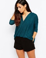AX Paris Cross Wrap Front Knit Top