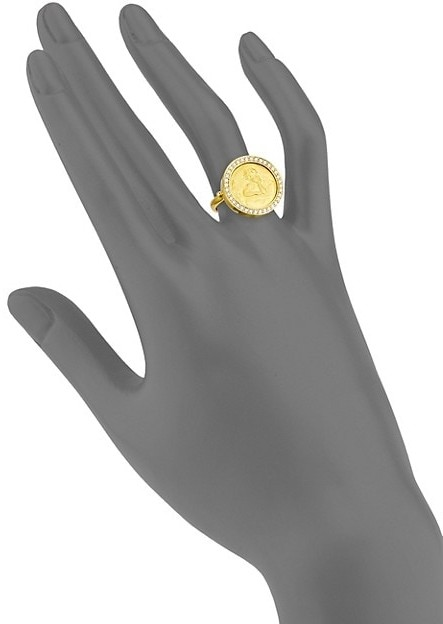 Thumbnail for your product : Temple St. Clair Diamond & 18K Gold Angel Ring
