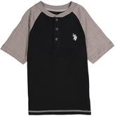 U.S. Polo Assn. Black Raglan Polo - Boys