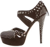 Miu Miu Studded Platform Pumps