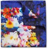 Eton of Sweden Bright Floral Print Pocket Square