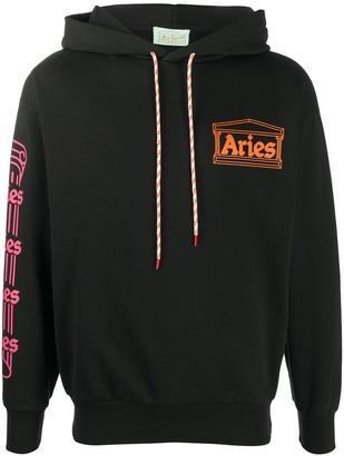 Aries Hooded Logo Sweatshirt