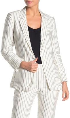 Joie Darryl Striped One Button Blazer