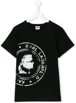 Karl Lagerfeld printed T-shirt - kids - Cotton - 14 yrs