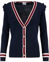 Madeleine Thompson Corfu Ruffle-Trimmed Wool And Cashmere-Blend Cardigan