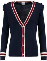Madeleine Thompson Stripe-Trimmed Wool And Cashmere-Blend Cardigan